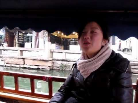 Shanghai Zhou Zhuang Folk Song on a boat ride.wmv