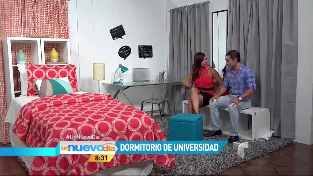 Telemundo un nuevo d a consejos para decorar el cuarto for Dormitorios para universitarios