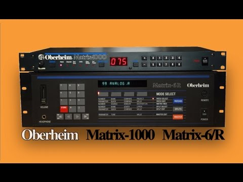 OBERHEIM MATRIX-1000 / MATRIX-6 Analog Synthesizer | NEW PATCHES