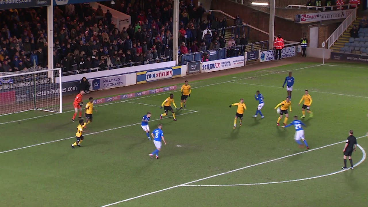 Питерборо Юнайтед  4-0  Саутенд Юнайтед видео