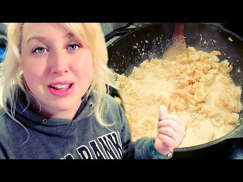 🥣 Large Family Pantry Challenge Cooking: Easy Shrimp Alfredo (and cookies?!)