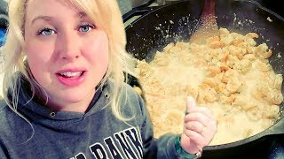 🥣 Large Family Pantry Challenge Cooking: Easy Shrimp Alfredo (and cookies?!) thumbnail