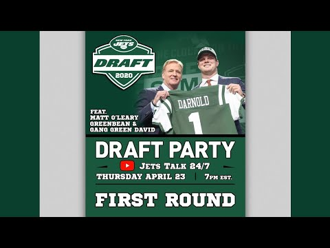 JETS SELECT MEKHI BECTON!! - NY Jets Live DRAFT PARTY!! First Round!