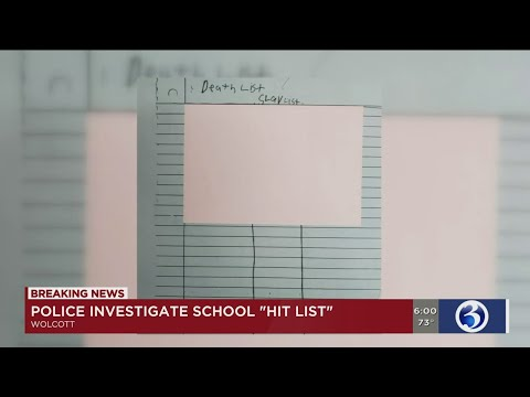 """VIDEO: Student arrested after """"death list"""" found at Wolcott High School"""