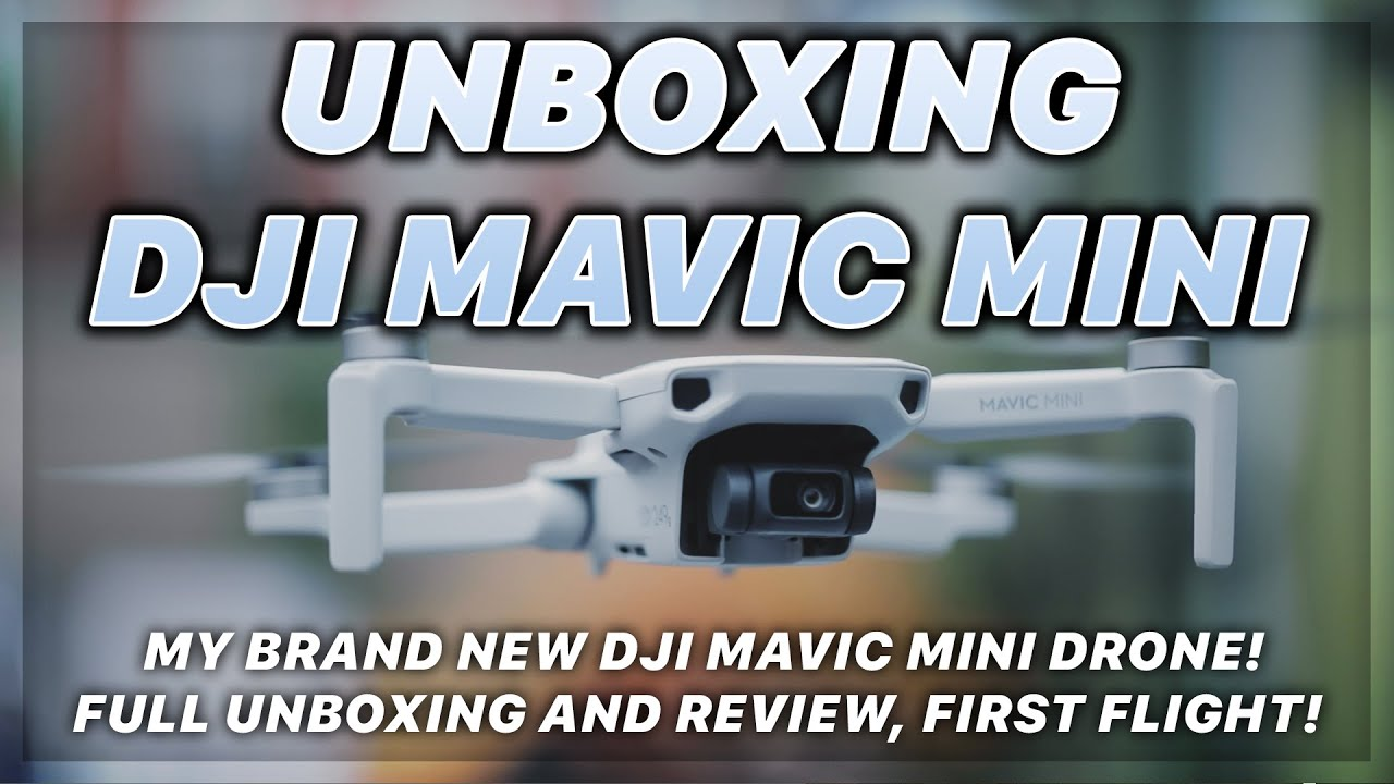 PEOPLE & BLOGS - Unboxing the brand newest release, DJI Mavic Mini! Full Unboxing video