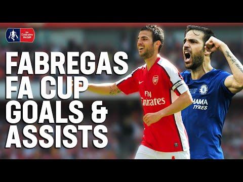 Farewell Cesc! | Every Cesc Fabregas FA Cup Goal & Assist | Emirates FA Cup
