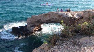 Protaras, Cyprus. Отпуск. Средиземное море. Остров Кипр. Протарас. Лето 2014. Пляж. Отдых.(Музыка -