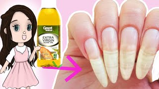 How to Grow Your Nails Long Fast With Olive Oil!✅ My Nail Care Routine! ~CheapNails~