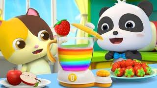 Baby Makes Colorful Food | Yummy Foods Song | Nursery Rhymes | Kids Songs | BabyBus