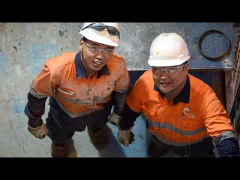 "Oyu Tolgoi Mine maintenance Critical Production ""A"" crew."