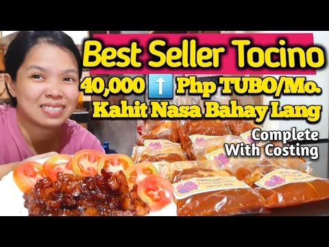 Homemade Pork Tocino Php 40k TUBO/Mo. Kahit Nasa Bahay Lang. Pangnegosyo Recipe Complete W/Costing.