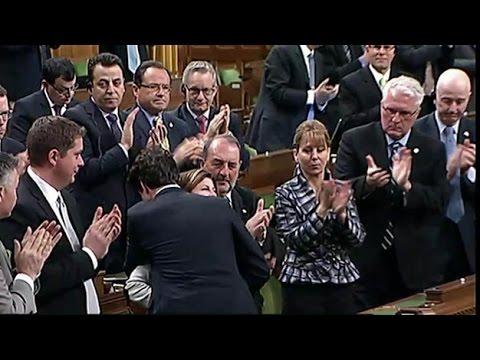 Ambrose hugged by Trudeau after speech