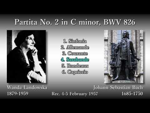 Bach: Partita No. 2, Landowska (1957) バッハ パルティータ第2番 ランドフスカ