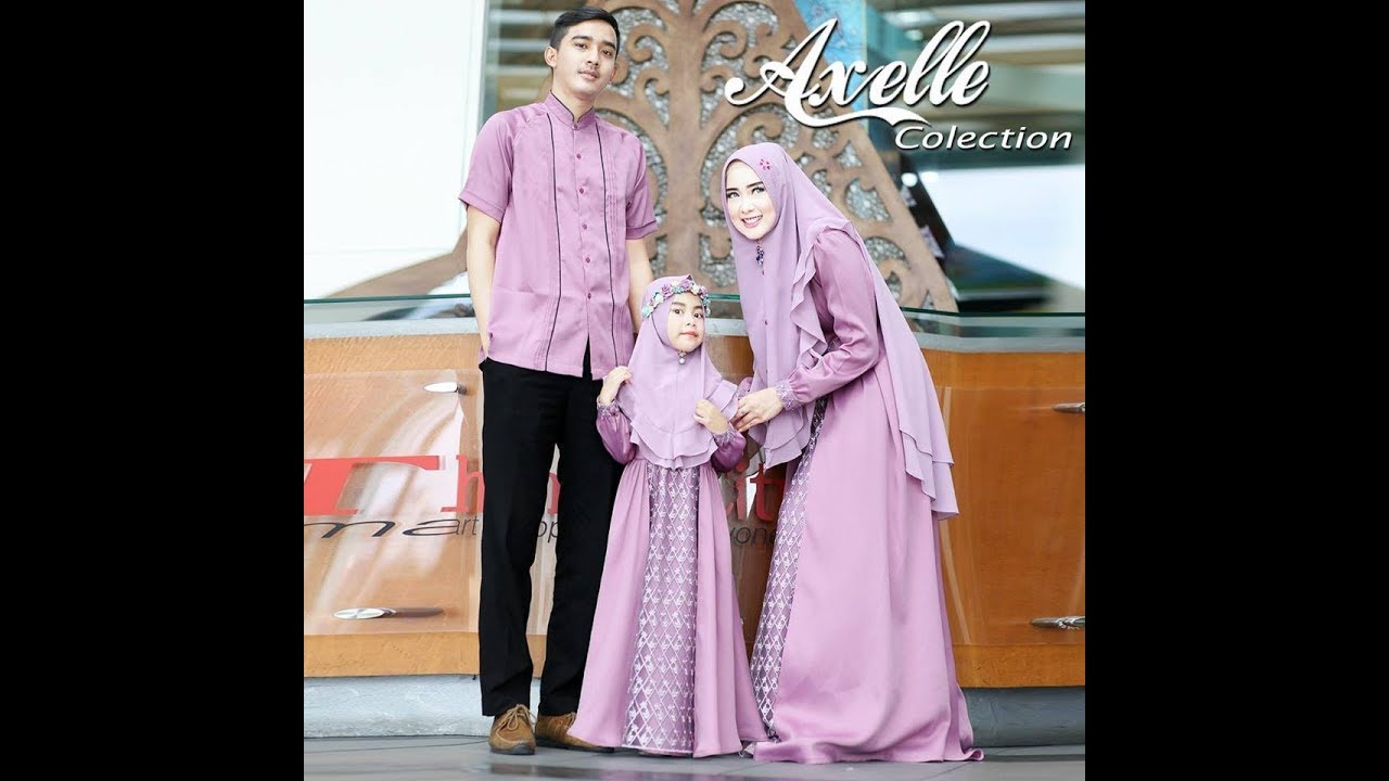 Model Baju Muslim Keluarga 2018 Elegan Baju Pria Gamis Ibu Dan Anak