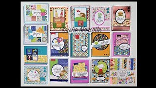 Doodlebug Design So Much Pun - 31 cards from one 6x6 paper pad