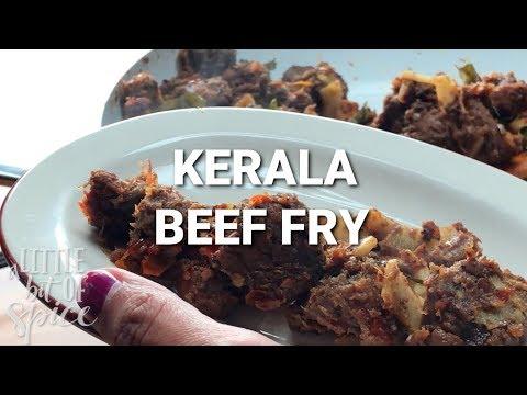 Beef Fry – Kerala style Beef Ularthiyathu with Thenga Kothu