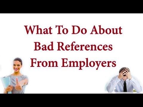 What To Do About Bad References From Employers