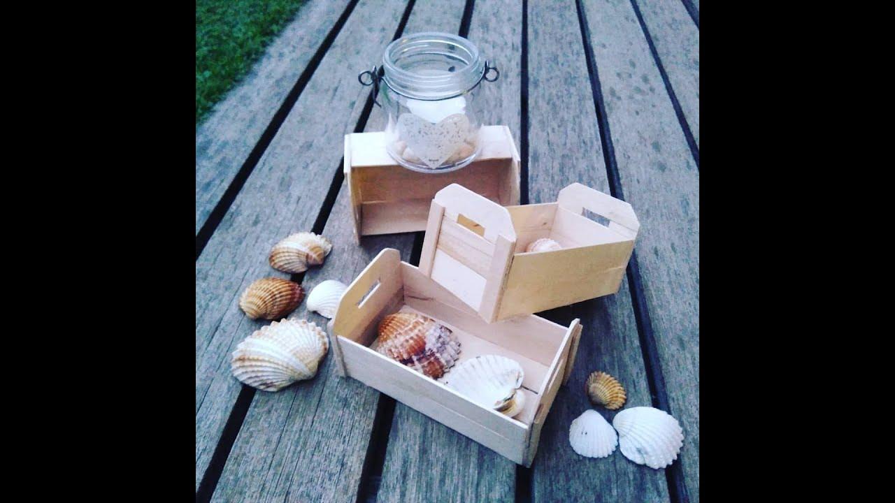 C mo hacer cajas de fruta o huacales en miniatura parte - Cajas de fruta decoradas ...