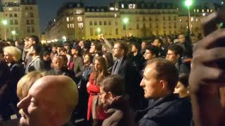 THOUSANDS Praying in Paris while Notre-Dame Cathedral burns