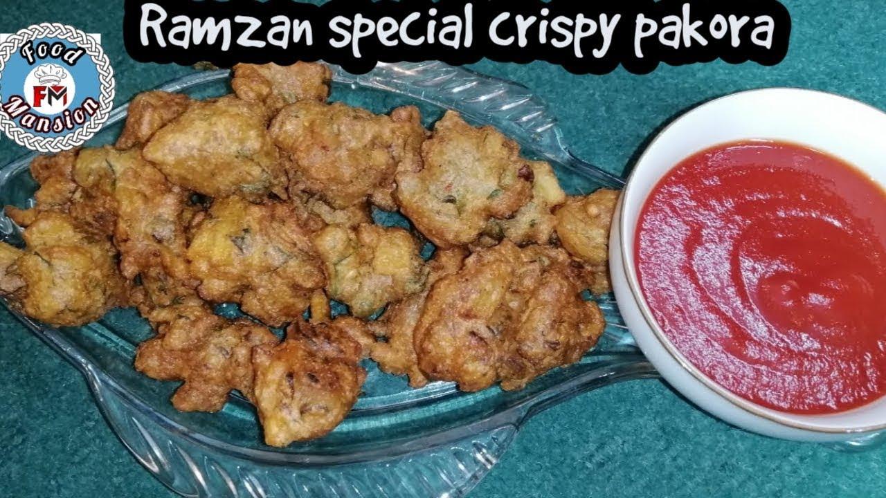 Crispy pakore - aloo piyaz k pakory recipe - pakora recipe