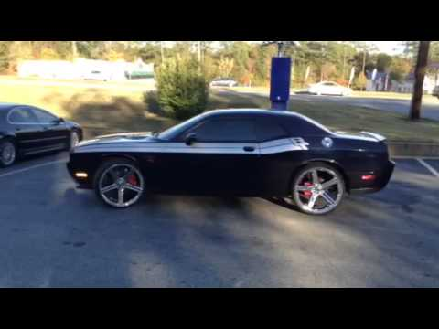 Dodge Challenger 24 Inch Rims >> 2011 Dodge Challenger on 24's @ Rimtyme Jonesboro GA - YouTube