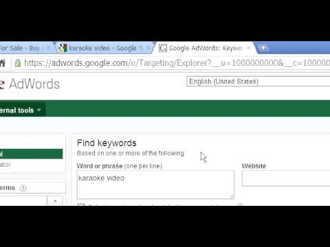 Keyword Research - Karaoke Video