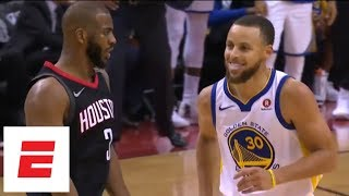 Chris Paul hits 3, shimmies all over Stephen Curry during Game 5 of Rockets vs. Warriors | ESPN