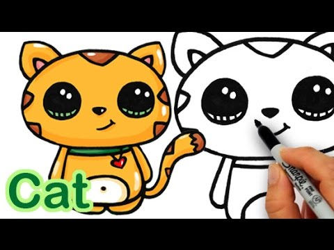 How To Draw A Cat Cute And Simple Youtube