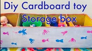 DIY Cardboard Toy storage box | Recycling of Amazon box