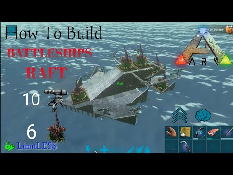 Ark Survival Evolved Mobile BEST RAFT BUILD PVP 10 Turrets And 6 X-Plants