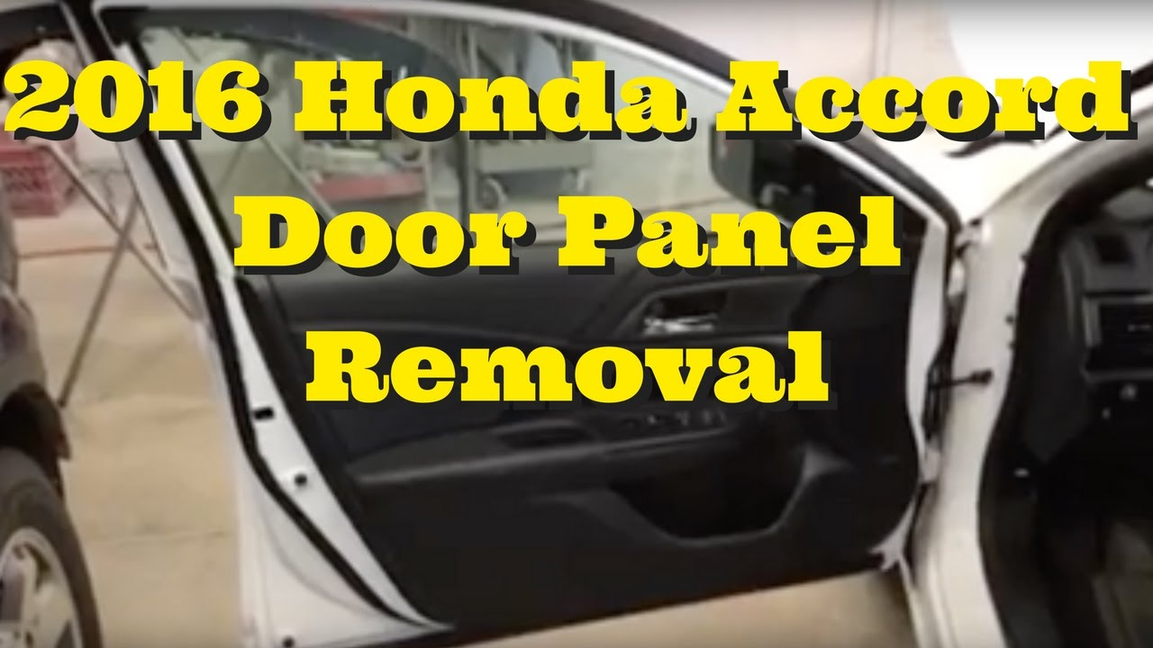 2004 honda accord door panel removal