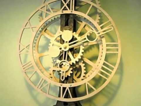 Wooden Gear Clock Youtube