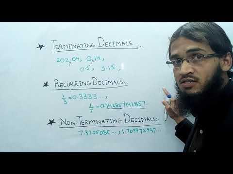 Terminating, Recurring and Non - Terminating decimal