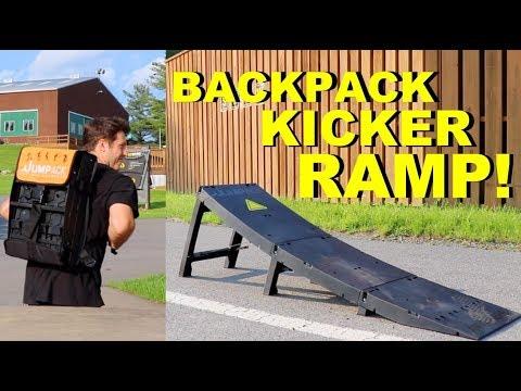 AMAZING NEW BACKPACK KICKER RAMP! (JUMPACK)