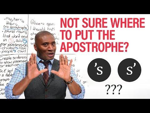 S' or 'S: Where do I put the apostrophe?