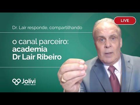 Live: Dr. Lair responde, compartilhando o canal parceiro: academia Dr Lair Ribeiro