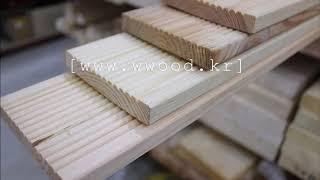 방부목과 데크재,영진목재의 제품들