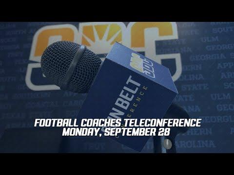 9/28 Football Coaches Media Teleconference
