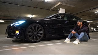 GOT INTO A CAR ACCIDENT! (RUINED TESLA)
