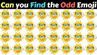 Find The Odd Emoji Out   Spot The Difference Emoji Vol#15   Emoji Puzzle Quiz   Find the difference