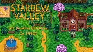 Stardew Valley Speedrun   All Bundles Glitchless in 3:44:32