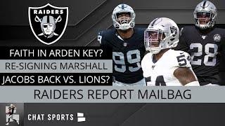 Raiders Rumors: Josh Jacobs Injury, Raiders vs. Lions, Brandon Marshall News, Arden Key, Maxx Crosby