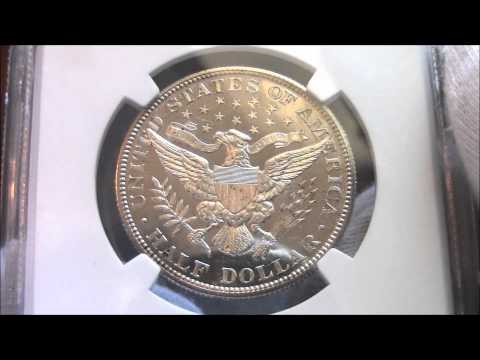 1911 – Barber Half Dollar – PF63 CAMEO, NGC And CAC, Proof - Coin Showcase