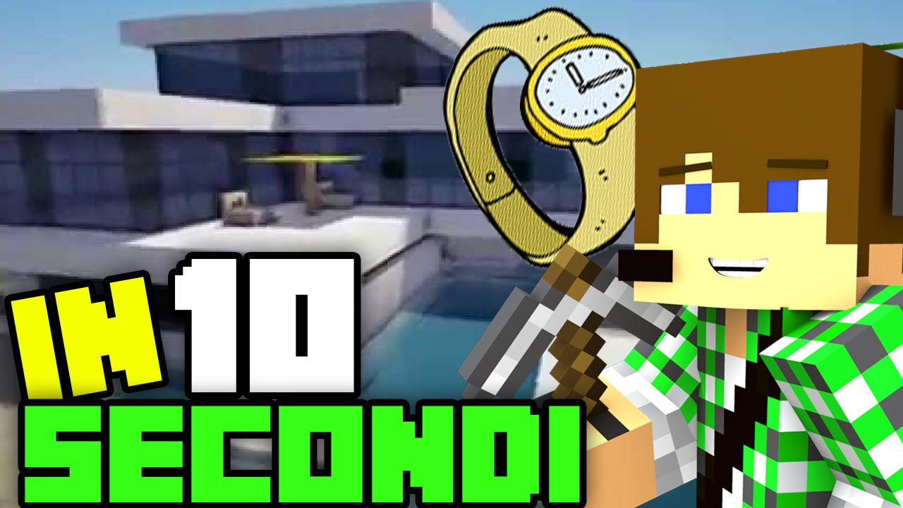 Costruire case moderne in minecraft in 10 secondi youtube for Le case moderne