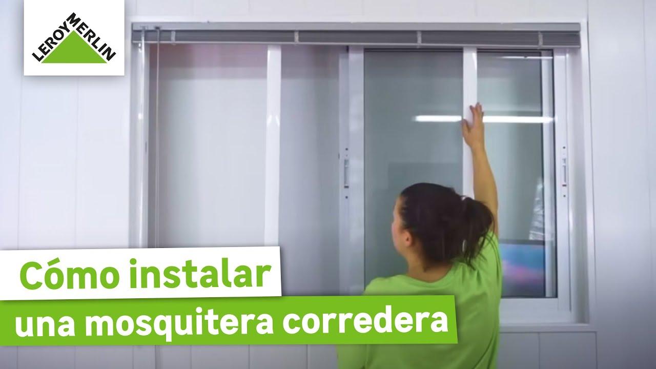 C mo instalar una mosquitera corredera para ventanas youtube for Instalar mosquitera corredera