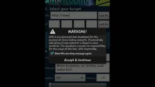 How to use LOIC For android(Low Orbit Ion Cannon)
