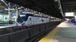 Railfan Newark Penn Station waiting for RBBX