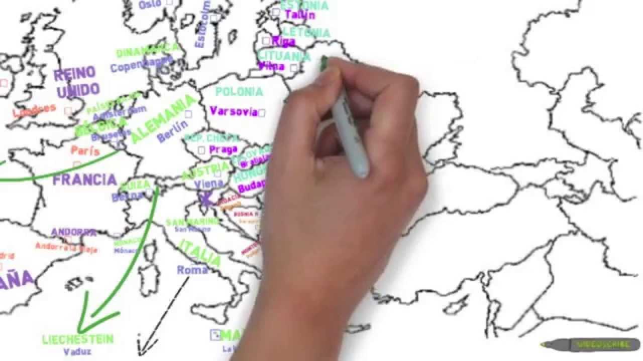 MAPA POLTICO de EUROPA  YouTube