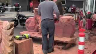 Chainsaw Carved Wood Harley Davidson Motorcycle