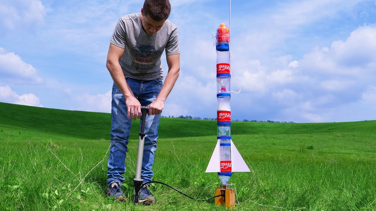 Building Powerful Dual Thrust Water Rocket with Parachute